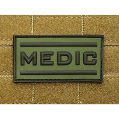 Patch 3D gomme souple Medic 70 X 36 mm vert OD