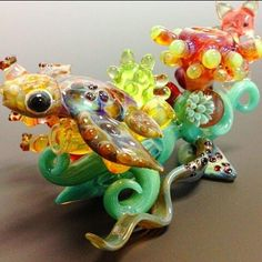 Glass art by Justin Rossi (pipe) #smoke #marijuana