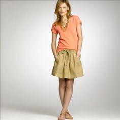 J Crew Linen Skirt with Pockets Super cute for summer. J. Crew Skirts Mini