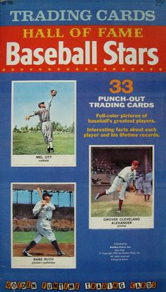 """Baseball Cards:Sets, 1961 Golden Press """"Baseball Hall of Fame"""" Complete Book Baseball Star, Baseball Cards, Grover Cleveland, Sport Inspiration, Punch Out, The Outfield, Babe Ruth, Colorful Pictures, Trading Cards"""