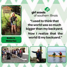Girl Scout Katie Albert from Waterloo revels in world adventure!