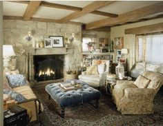 The living room in Rosehill Cottage from ''The Holiday''.