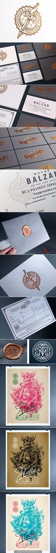Dagger & Co.  amazing identity by Chad Michael