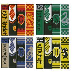 Harry Potter Perler Beads, Harry Potter Cross Stitch Pattern, Harry Potter Bookmark, Harry Potter Scarf, Harry Potter Crochet, Cross Stitch Bookmarks, Cross Stitch Samplers, Cross Stitch Kits, Cross Stitch Designs