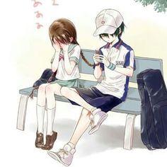 So cute Anime: Tennis no ouji sama Prince Of Tennis Anime, Anime Prince, Best Anime Couples, Cute Couples, Kawaii Art, Kawaii Anime, Tennis Pictures, Manga Cute, Anime Couples Drawings