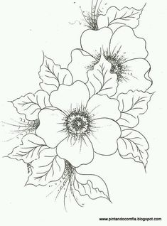 use for embroidery, décor on painted surfaces, pyrography, etc Fabric Painting, Painting & Drawing, Pencil Drawings, Art Drawings, Flower Drawings, One Stroke Painting, Coloring Book Pages, Digi Stamps, Colorful Flowers