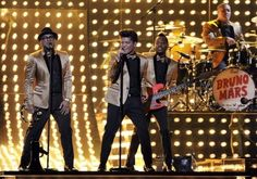 Bruno Mars on stage at Grammys 2012