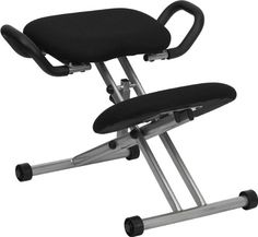 Discount office chair - Pin it :-) Follow us :-)) AzOfficechairs.com is your Office chair Gallery ;) CLICK IMAGE TWICE for Pricing and Info :) SEE A LARGER SELECTION of    discount office chair at  http://azofficechairs.com/category/office-chair-categories/discount-office-chair/ - office, office chair, home office chair -   Flash Furniture WL-1429-GG Ergonomic Kneeling Chair in Black Fabric with Handles « AZofficechairs.com