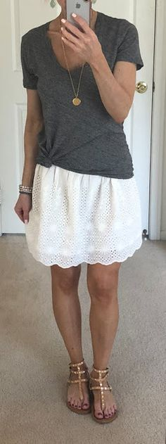 8ae75bae2 Nine Summer Casual Outfits + Friday Four 6/15/18. White Eyelet SkirtLace ...