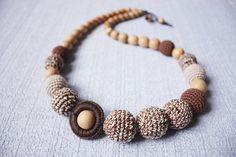 BEREIT-zu-Schiff Babytrage Zahnen Nursing Halskette für stillende Mami - Sling Zubehör - Collier humains - braune-Beige-Farben