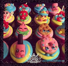 #shopkins #cupcakes #cupcaketoppers #cookie #doughnut #watermelon #lollipop #strawberry #smarties #candy #nailpolish #customcake #inthelou #stl #stlouis #saintlouis #edible_art #cake_art #occasional_cakes