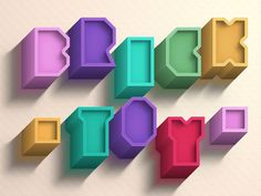 Brick Toy Text Effect