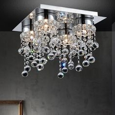 House of Hampton Sickler 4 - Light Chandelier Style Geometric Flush Mount Living Room Decor, Dining Room, Acrylic Colors, Home Decor Kitchen, Remodeling Ideas, Chandelier Lighting, Home Interior Design, Future House, Color Combinations