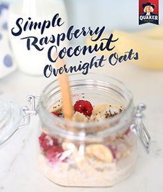 A simple breakfast with the right balance of texture and flavor in every bite! Make Quaker® overnight oats at night, refrigerate, mix before eating, and enjoy.