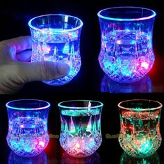 LED Premium Glasses Light up the party with these cool, flashing 7 oz (210ml) premium whiskey glass. These 3.5 inch high cups feature bright, flashing LEDs that can be turned on when the cup is filled with the liquid (water, whiskey, juice, etc) and off when the liquid is no more. The lights make these a fun, lively addition to any celebration, festival or gathering. Don''t let the name fool you, children and adults both love these great items. Use them for your favourite beverage. Add…