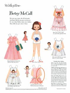 Betsy McCall Paper Doll - McCall's Magazine, Jan 1959