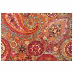 Paisley Art - I get so many compliments with this red, orange & teal swirl of a delight above my entryway!!  It's on sale girls!!!  Get one before they are gone!  What a HAPPY PRINT!!