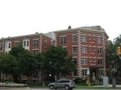 London, Ontario: Downtown, Apartment buildings at the corner of Queens Avenue & Wellington Street.