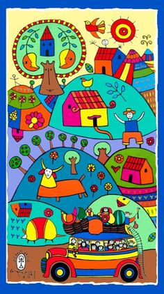 el salvador food Salvadoran artist Fernando Llort is not only known for his own work but for fostering a folk art school/movement in El Salvador. Illustrations, Illustration Art, Arte Latina, Latino Art, Arte Country, Spanish Art, Spanish Class, 3rd Grade Art, Guache