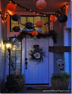 There's something about Halloween that brings out the little kid in me. I trace it back to that one Halloween years ago, wh. Halloween Porch, First Halloween, Outdoor Halloween, Couple Halloween, Holidays Halloween, Vintage Halloween, Halloween Crafts, Happy Halloween, Halloween Decorations