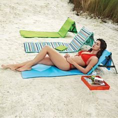 Beachcomber Portable Beach Mat is an excellent gift for anyone who loves to stretch out at the beach or park! $39.99