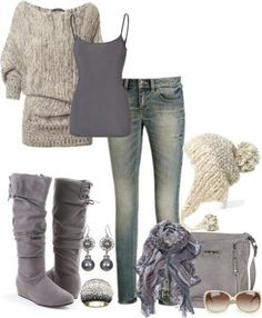 I absolutely love sweaters like this. I love love love the sweater, cami and jeans. I love shirts that droop off the shoulders!