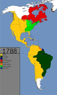 The changing political landscape of the North and South American continents from their discovery in 1492 to ---Abbreviations & Symbols--- * = Dominion . Study History, History Facts, World History, Geography Map, History Classroom, Fantasy Map, Colonial America, Historical Maps, Inca