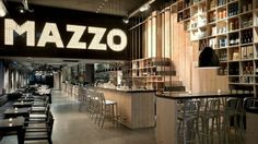Concrete Architectural Associates have recently completed the interior design of the Mazzo restaurant in Amsterdam, The Netherlands. Concept Restaurant, Classic Restaurant, Modern Restaurant, Restaurant Names, Restaurant Bar, Restaurant Interior Design, Restaurant Furniture, Cafe Design, Store Design