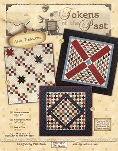 Heartspun Quilts ~ Pam Buda: Tokens of the Past: Attic Treasures