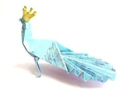 LillyTyll: Origami - En påfågel