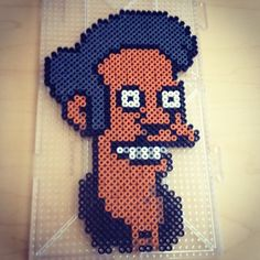 Apu Nahasapeemapetilon - The Simpsons perler beads by smargetts