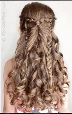 resultado de imagen para peinados para nias de aos para fiesta