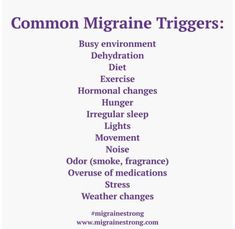 The most common reported migraine triggers - Migraine Strong Foods For Migraines, Types Of Migraines, Migraine Triggers, Migraine Diet, Migraine Pain, Natural Remedies For Migraines, Chronic Migraines, Migraine Relief, Headache Remedies