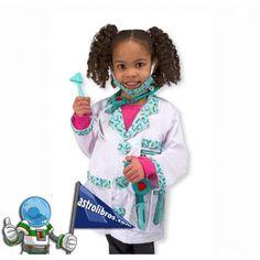 Bonito disfraz de Doctor/Doctora para niñ@s de 3-6 años que puedes comprar en astrolibros.com y nuestra librería de Vitoria