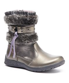 Look at this Beeko Gray Ruby Leather Boot on #zulily today!
