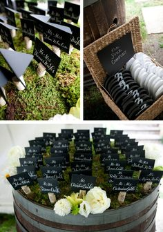 #vineyard #wedding Love these wine cork place card holders!