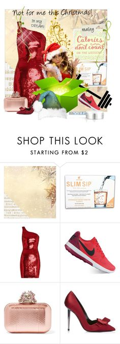 """""""Not for me this Christmas!"""" by no-where-girl ❤ liked on Polyvore featuring Kaisercraft, Yves Saint Laurent, NIKE, Jimmy Choo, blomus and designedbyyou"""