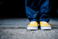 groom and yellow vans / shoes www.dominicwright.co.uk