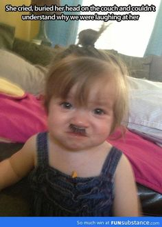 toddlers + fake eyelashes = baby hitler