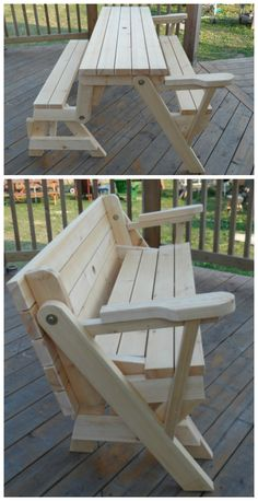 """Transformer"" Bench / Picnic Table // built by YoungWoo in the Kreg Owners' Community"
