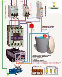 Esquemas eléctricos: Arranque motor bomba trifásico con flotante.