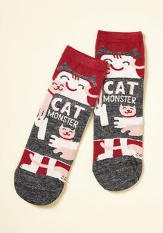 She Did the Monster Dash Socks in Cats, #ModCloth