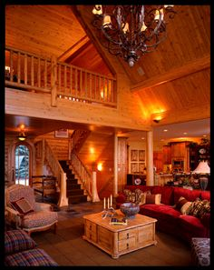 Custom Cedar Log Homes, Luxury Cottage Floor Plans, Architectural Design Services – Town & Country Town and Country Cedar Homes Log Cabin Living, Log Cabin Homes, Log Cabins, Rustic Cabins, Rustic Homes, Cottage Floor Plans, House Plans, Cedar Homes, Timber Homes