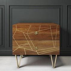 Buy GRADE - Halo 2 Drawer Bedside Table with Brass Inlay in Natural Honey from - the UK's leading online furniture and bed store Large Furniture, Furniture Making, Online Furniture, Modern Furniture, Cool Bedside Tables, Quilted Headboard, Dark Blue Bedrooms, Halo 2, Natural Honey