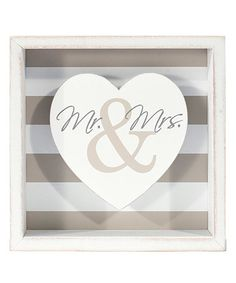 This 'Mr. & Mrs.' Box Sign is perfect! #zulilyfinds