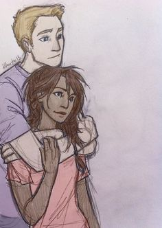 Jason and Piper - BurdgeBug - Coloured by ~LadyRiverwolf on deviantART. Pretty sure I already repinned this, but so many people hate on jasper I have to show my support
