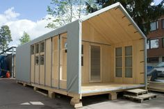 The Liina Transitional Modular Shelter Needs No Tools for Asse...