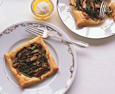 Asparagus and Mushroom Tarts Photo - Easter Appetizers and Side Dishes Recipe   Epicurious.com