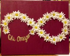 Will make it!  *use carnation flowers because that's our chi omega flower :)