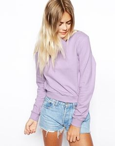Enlarge ASOS Cropped Boyfriend Sweatshirt
